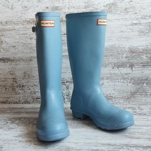 💙Hunter Light Blue Rain Boots
